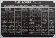 Land Rover lubrication plate