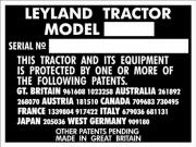 Replacement Leyland tractor blank VIN plate